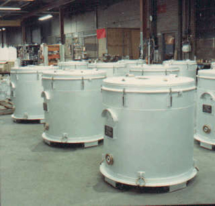 Aluminum container to ship jet engine rotors