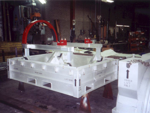 Aluminum container to ship F414 HPC